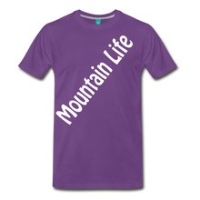 Load image into Gallery viewer, Men's Diagonal Mountain Life T-Shirt - purple