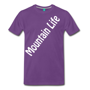 Men's Diagonal Mountain Life T-Shirt - purple