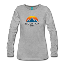 Load image into Gallery viewer, Women's Mountain Life Long Sleeve - heather gray