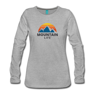 Women's Mountain Life Long Sleeve - heather gray
