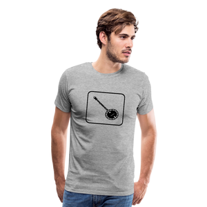 Men's Banjo Icon T-Shirt - heather gray