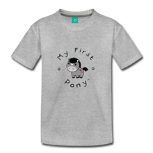 Load image into Gallery viewer, Toddler My First Pony T-Shirt (grey) - heather gray
