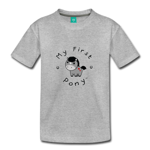 Toddler My First Pony T-Shirt (grey) - heather gray