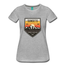 Load image into Gallery viewer, Women's Sunset T-Shirt - heather gray