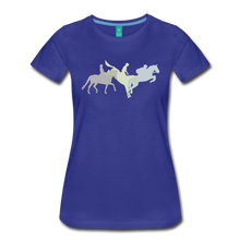 Load image into Gallery viewer, Women's Shadowed Eventing T-Shirt - royal blue