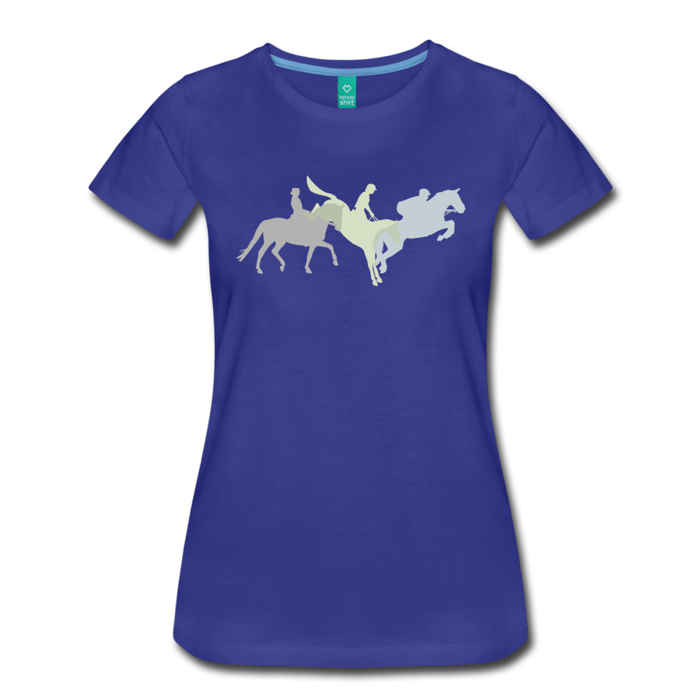 Women's Shadowed Eventing T-Shirt - royal blue