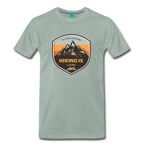 Men's Hiking T-Shirt - steel green