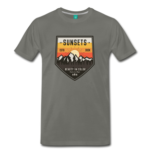 Men's Sunset T-Shirt - asphalt