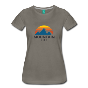 Women's Mountain Life Shirt - asphalt