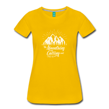 Load image into Gallery viewer, Women's Mountains T-Shirt (white) - sun yellow