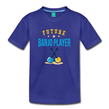 Load image into Gallery viewer, Kids' Future Banjo Player T-Shirt - royal blue