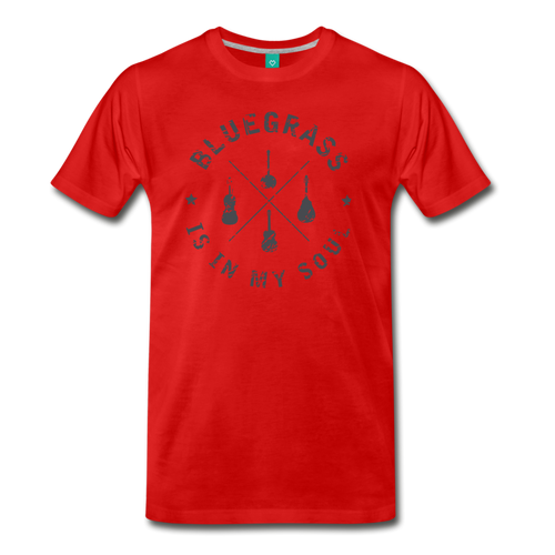 Men's Bluegrass is in my Soul T-Shirt - red