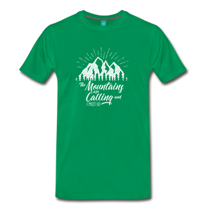 Men's Mountains T-Shirt (white) - kelly green
