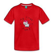 Load image into Gallery viewer, Toddler My First Pony T-Shirt (light grey) - red
