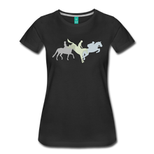 Load image into Gallery viewer, Women's Shadowed Eventing T-Shirt - black