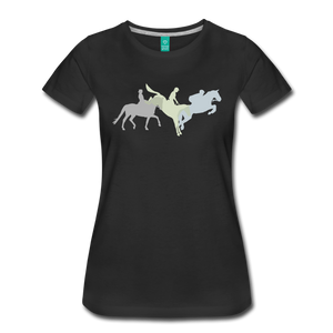 Women's Shadowed Eventing T-Shirt - black