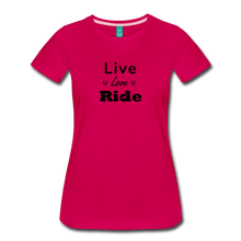 Load image into Gallery viewer, Women's Live Lover Ride T-Shirt - dark pink