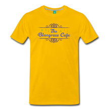 Load image into Gallery viewer, Men's The Bluegrass Cafe (swirl) T-Shirt - sun yellow