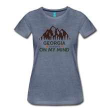 Load image into Gallery viewer, Women's Georgia on my Mind T-Shirt - heather blue
