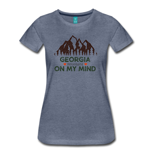 Women's Georgia on my Mind T-Shirt - heather blue