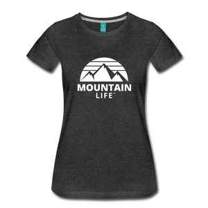 Women's Premium T-Shirt (white) - charcoal gray