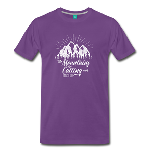 Men's Mountains T-Shirt (white) - purple