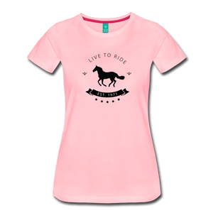 Women's Live to Ride T-Shirt - pink