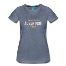 Load image into Gallery viewer, Women's Outdoor Adventure Canada T-Shirt - heather blue