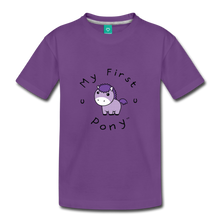 Load image into Gallery viewer, Kids' My First Pony T-Shirt (lilac patch) - purple