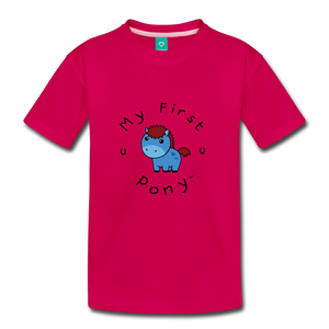 Kids' My First Pony T-Shirt (blue) - dark pink