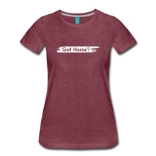 Load image into Gallery viewer, Women's Got Horse T-Shirt - heather burgundy