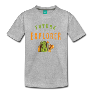 Kids' Future Explorer T-Shirt - heather gray