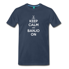 Load image into Gallery viewer, Men's Keep Calm and Banjo On T-Shirt - navy