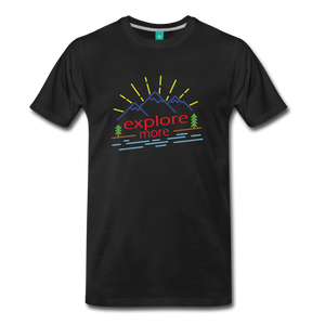 Men's Colored Explore More T-Shirt - black