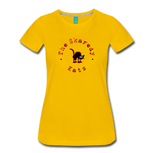 Load image into Gallery viewer, Women's The Skaredy Katz T-Shirt - sun yellow