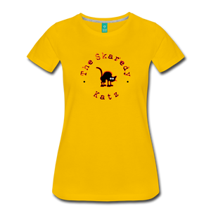 Women's The Skaredy Katz T-Shirt - sun yellow