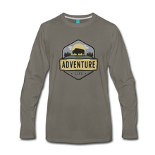 Load image into Gallery viewer, Men's Adventure Life Long Sleeve Shirt - asphalt