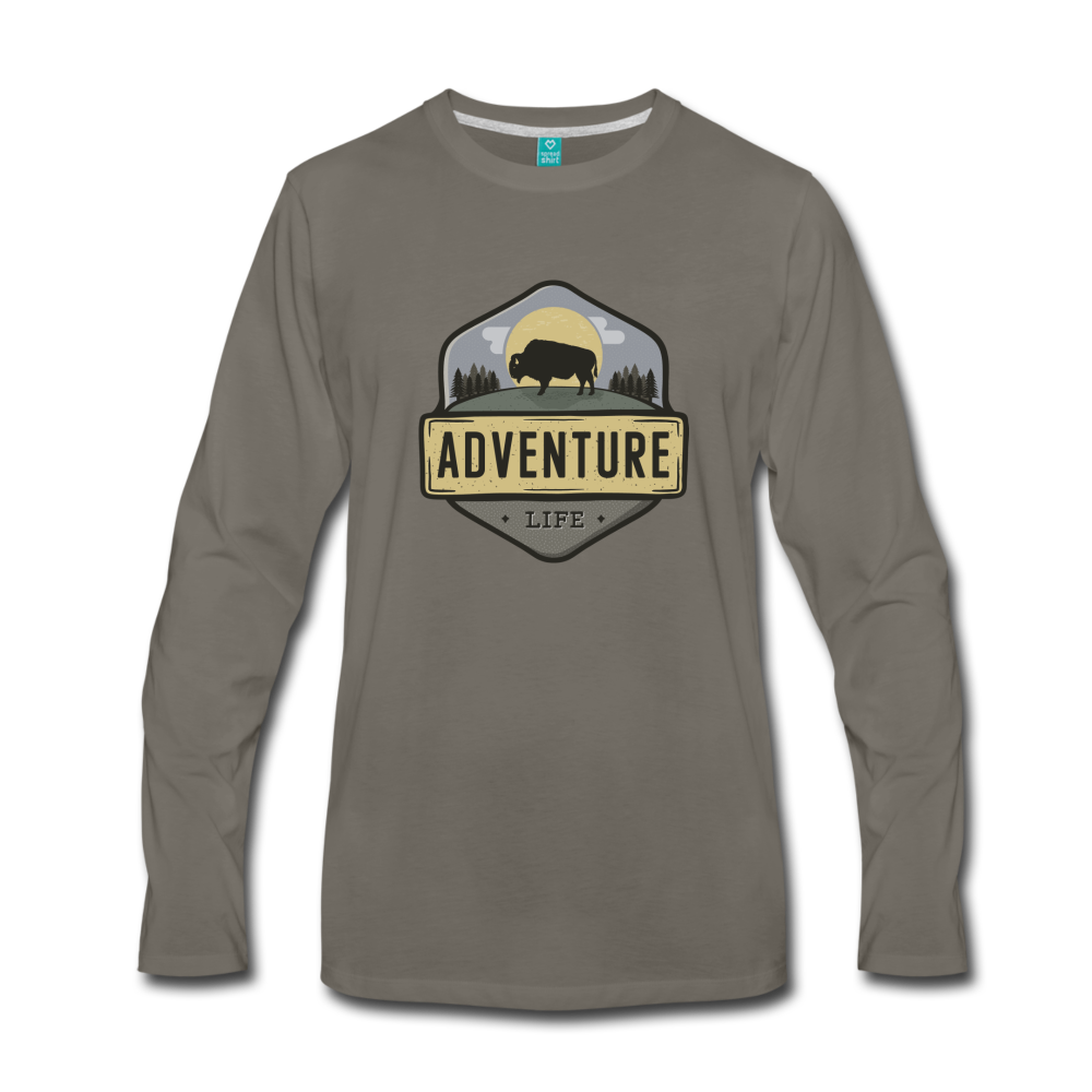 Men's Adventure Life Long Sleeve Shirt - asphalt