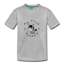 Load image into Gallery viewer, Toddler My First Donket T-Shirt - heather gray