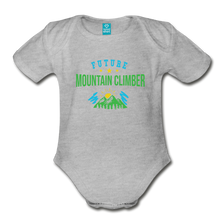 Load image into Gallery viewer, Future Mountain Climber Baby Bodysuit - heather gray