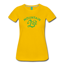 Load image into Gallery viewer, Women's Mountain Life (script) T-Shirt - sun yellow