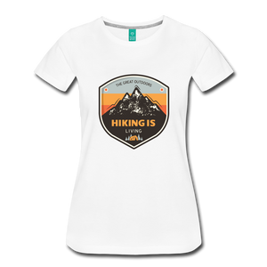 Women's Hiking T-Shirt - white