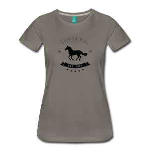 Women's Live to Ride T-Shirt - asphalt