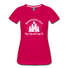 Load image into Gallery viewer, Women's Keep Calm, Camp On (white) - dark pink