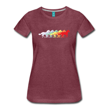 Load image into Gallery viewer, Women's Retro Rainbow Horse T-Shirt - heather burgundy