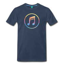 Load image into Gallery viewer, Men's Colored Music Note T-Shirt - navy