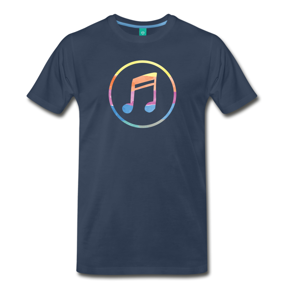 Men's Colored Music Note T-Shirt - navy