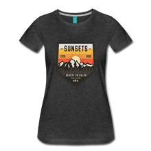 Load image into Gallery viewer, Women's Sunset T-Shirt - charcoal gray