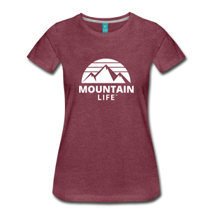 Women's Premium T-Shirt (white) - heather burgundy