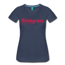 Load image into Gallery viewer, Women's Bluegrass Kinda Life T-Shirt - navy